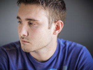 Man looking away from the camera