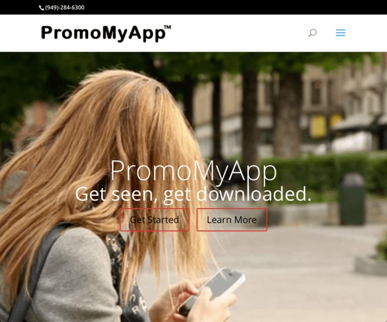 PromoMyApp screen